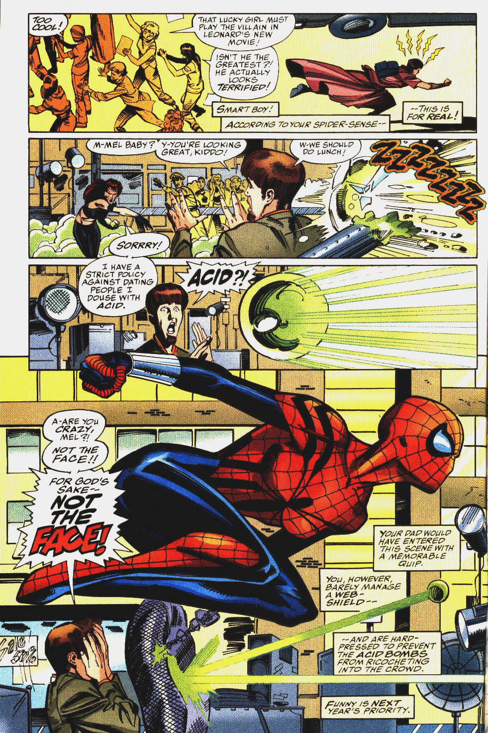 Spider-Girl Annual (1999) #1 pg4, pencils by Pat Olliffe & inks by Sal Buscema.