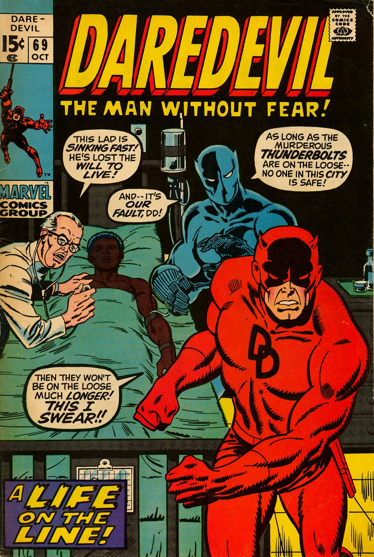 Daredevil (1964) #69, cover by Sal Buscema.