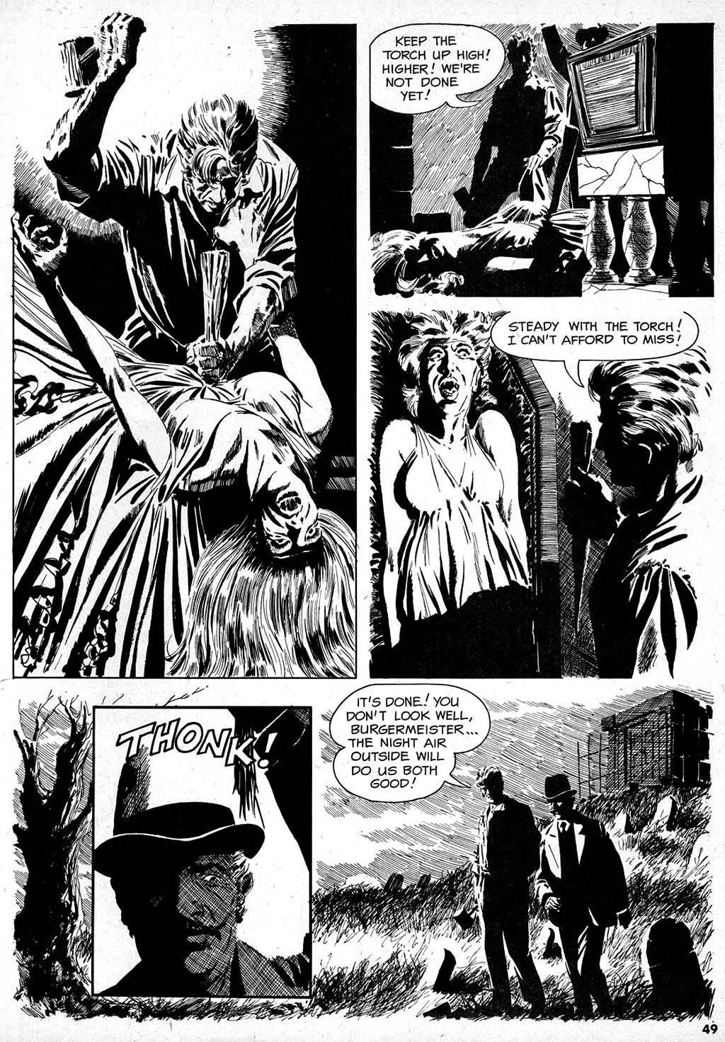 Creepy (1964) #1 pg47, art by Angelo Torres.