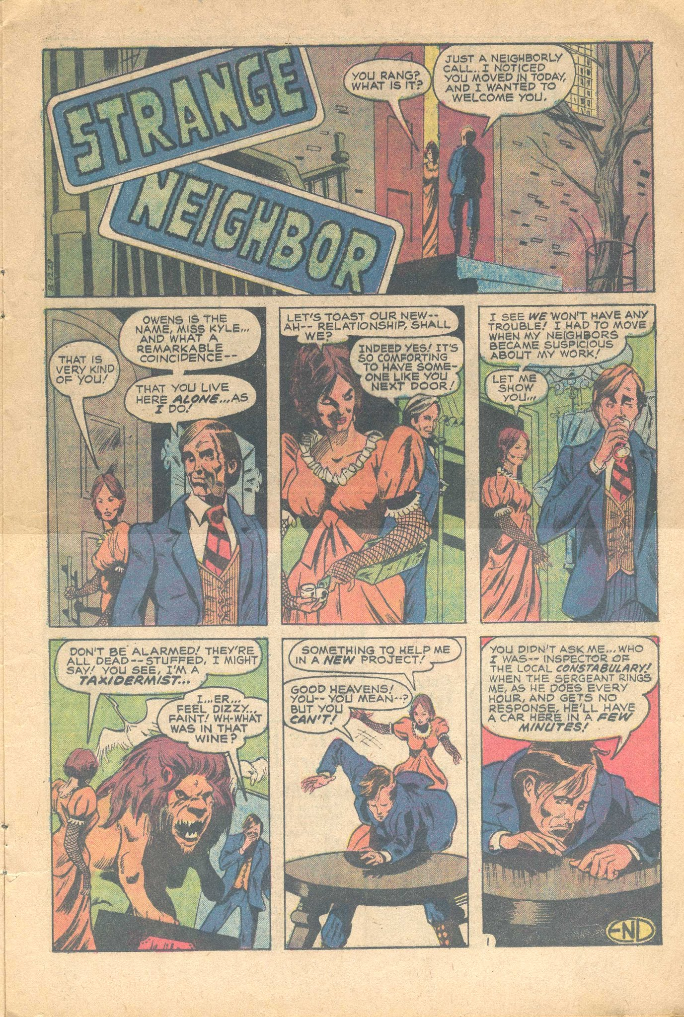 Secrets of Sinister House (1972) #17 pg11, art by Howard Chaykin.