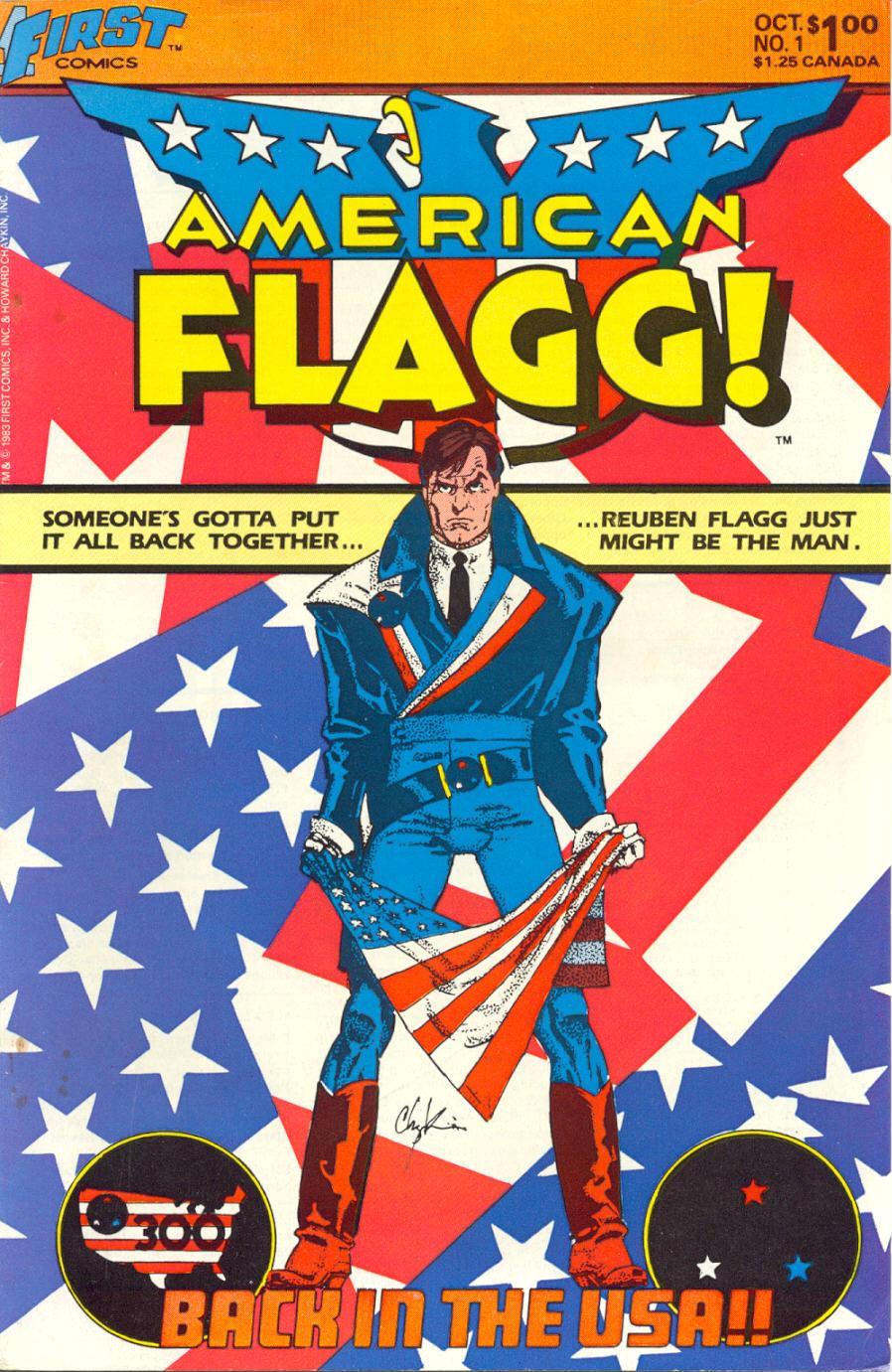 American Flagg (1983) #1 by Howard Chaykin.
