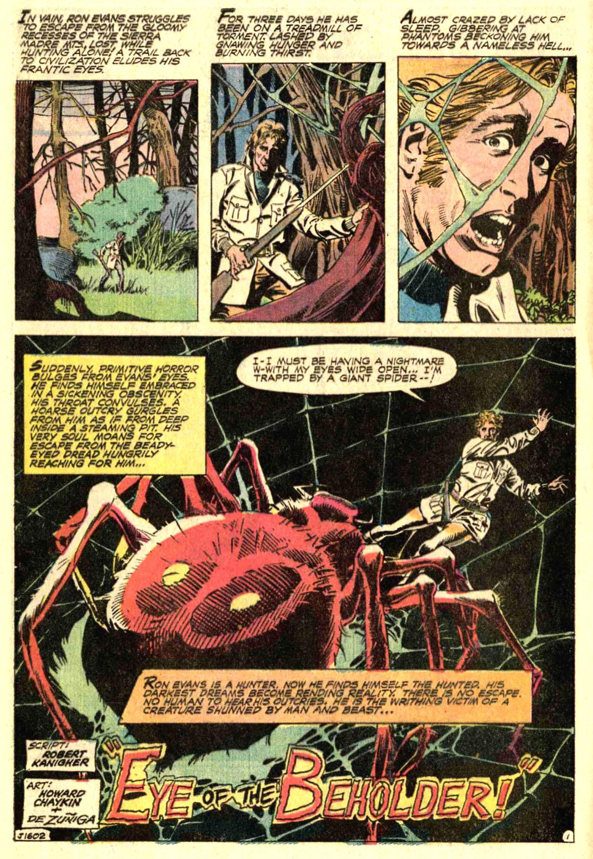 Forbidden Tales of Dark Mansion (1972) #7 pg1, penciled by Howard Chaykin & inked by Tony DeZuniga.