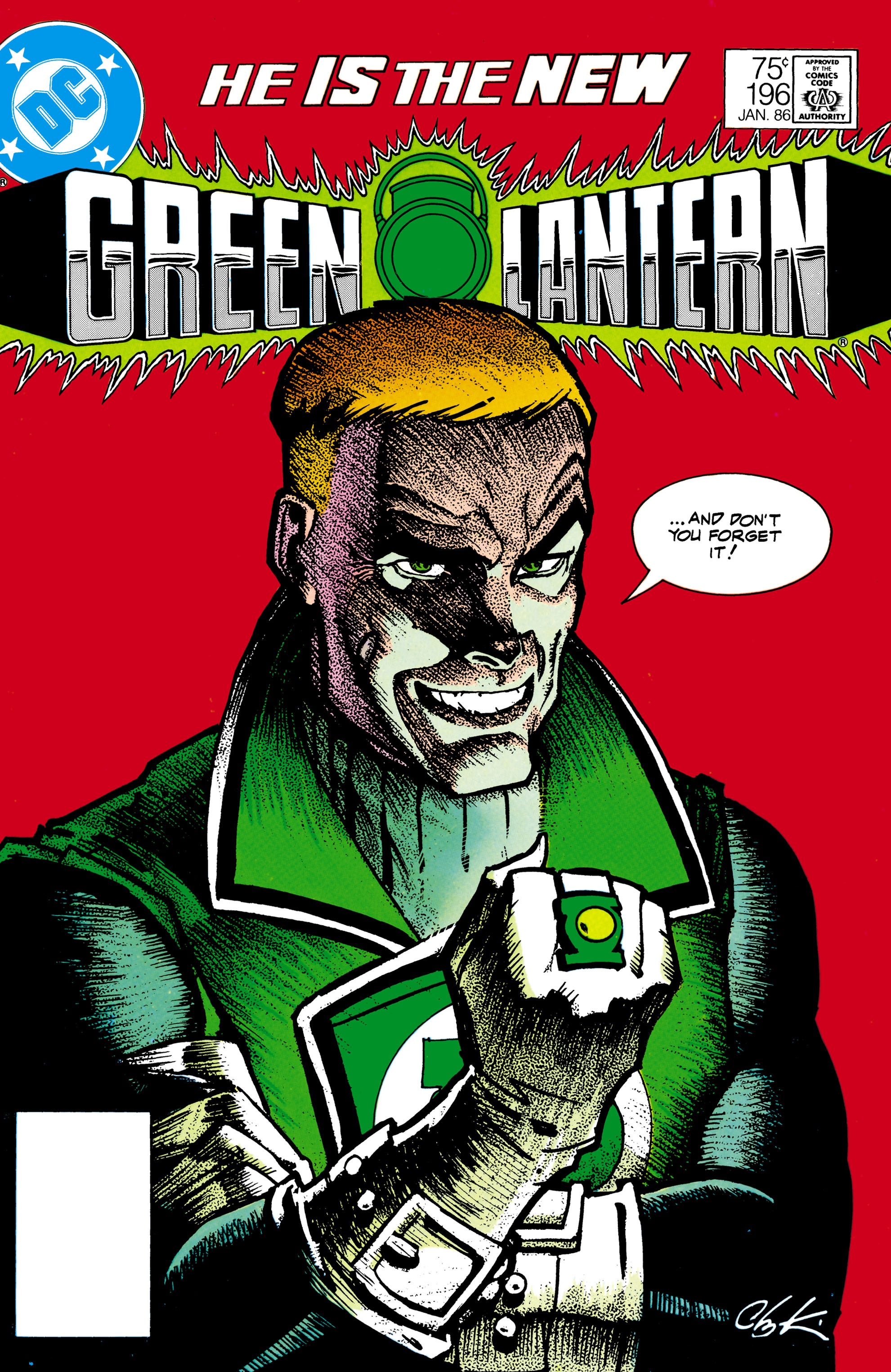 Green Lantern (1960) #196, cover by Howard Chaykin.