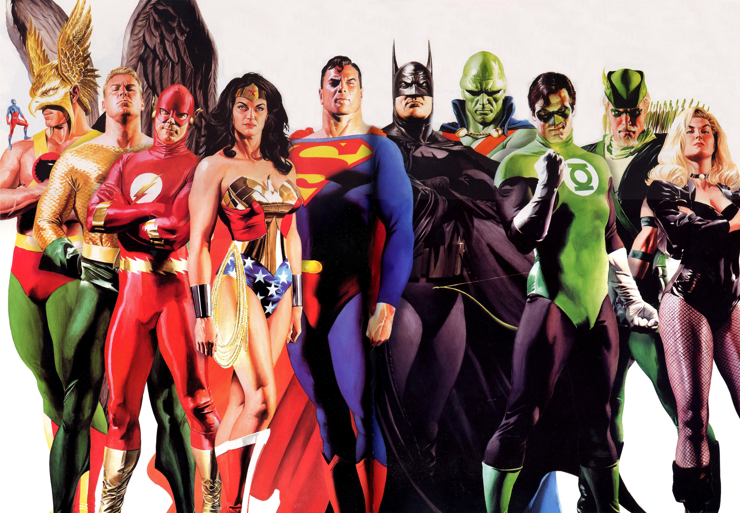 The Justice League of America by Alex Ross.