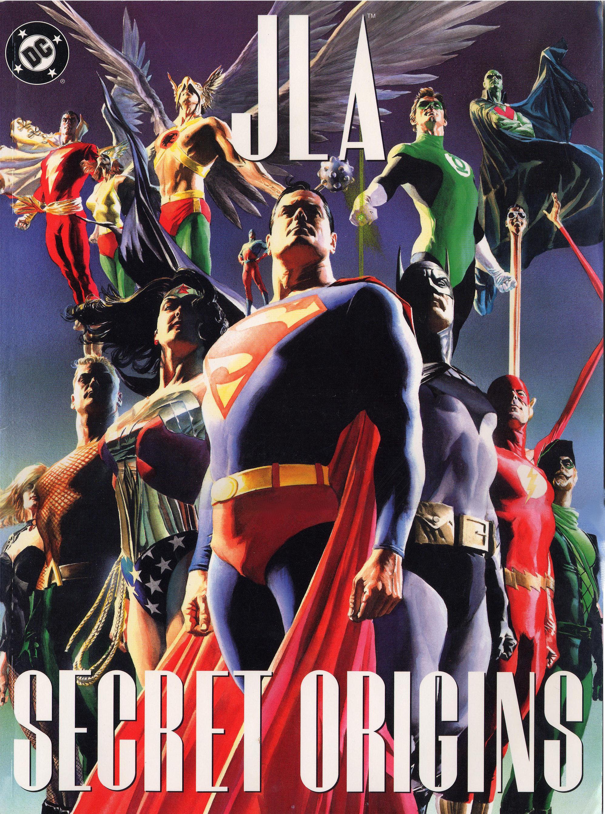 JLA: Secret Origins (2002) #1, cover by Alex Ross.