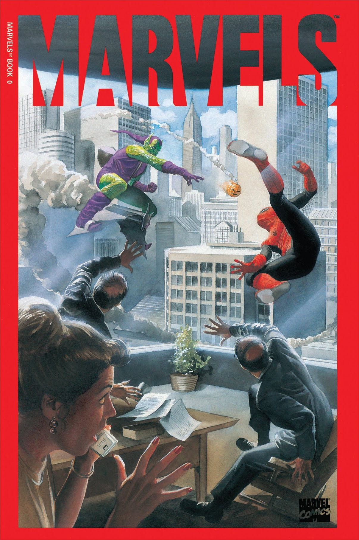 Marvels (1994) #0, cover by Alex Ross.