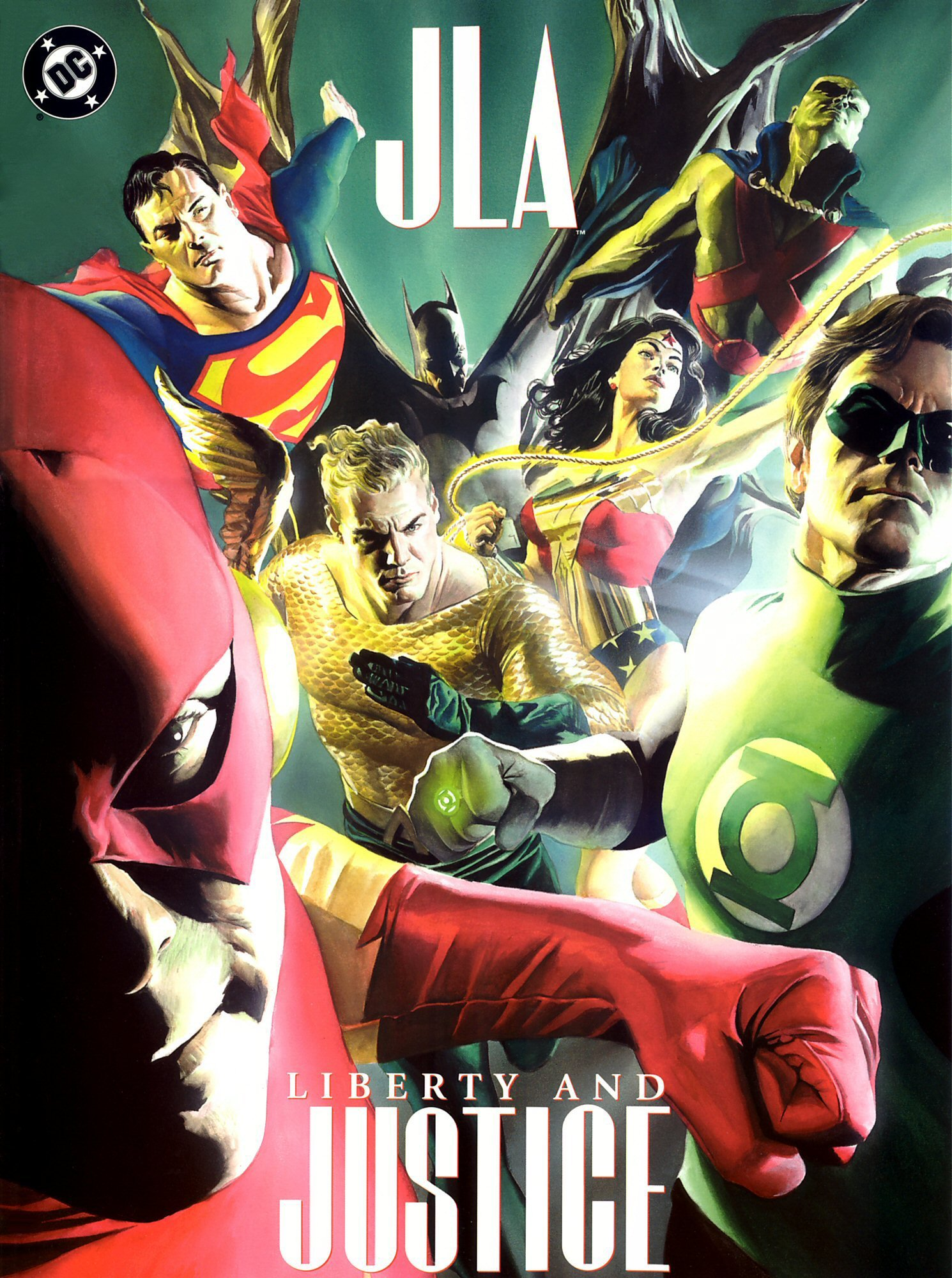JLA: Liberty and Justice (2003) #1, cover by Alex Ross.