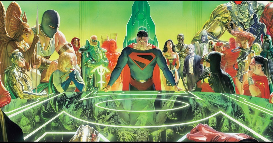Kingdom Come TPB cover by Alex Ross.