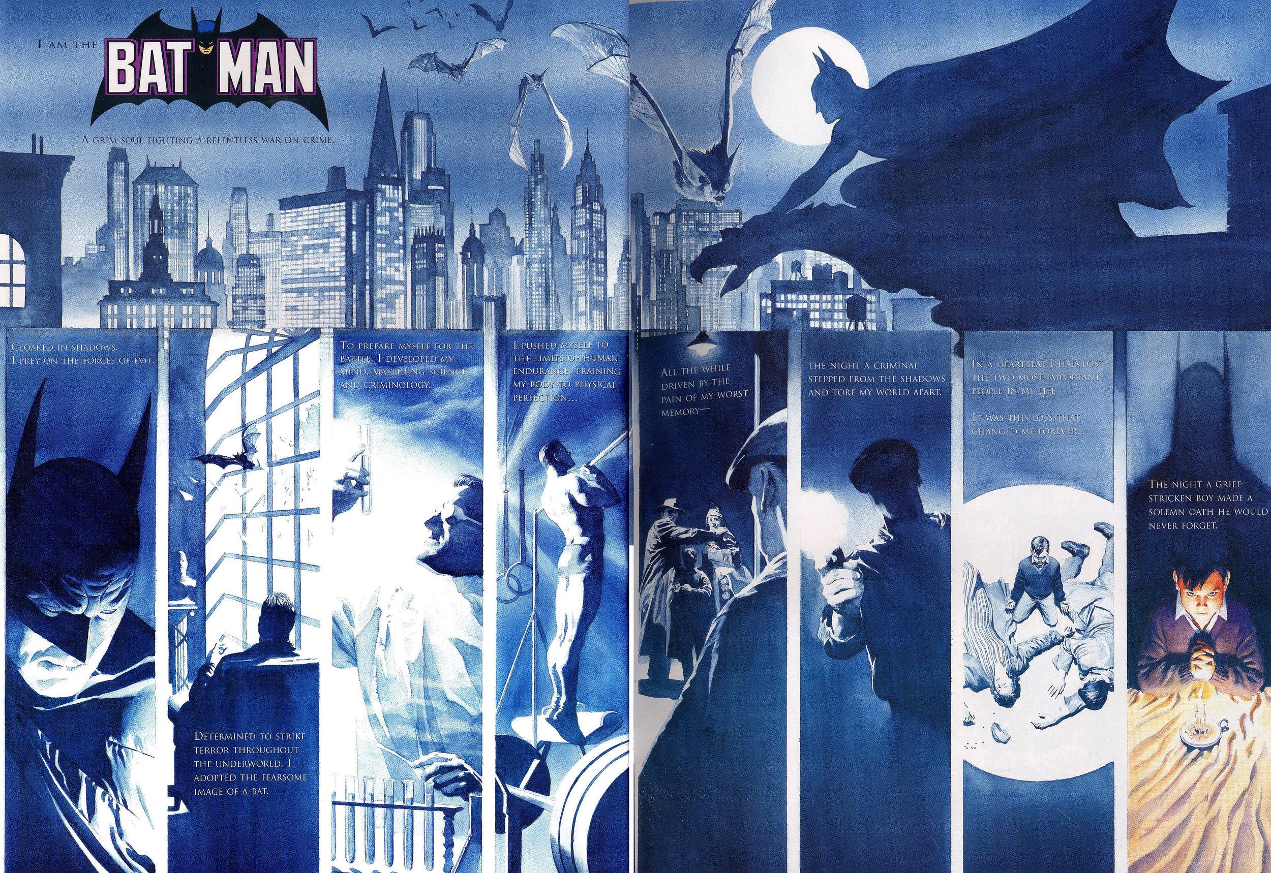 JLA: Secret Origins (2002) Batman, written by Paul Dini with art by Alex Ross.