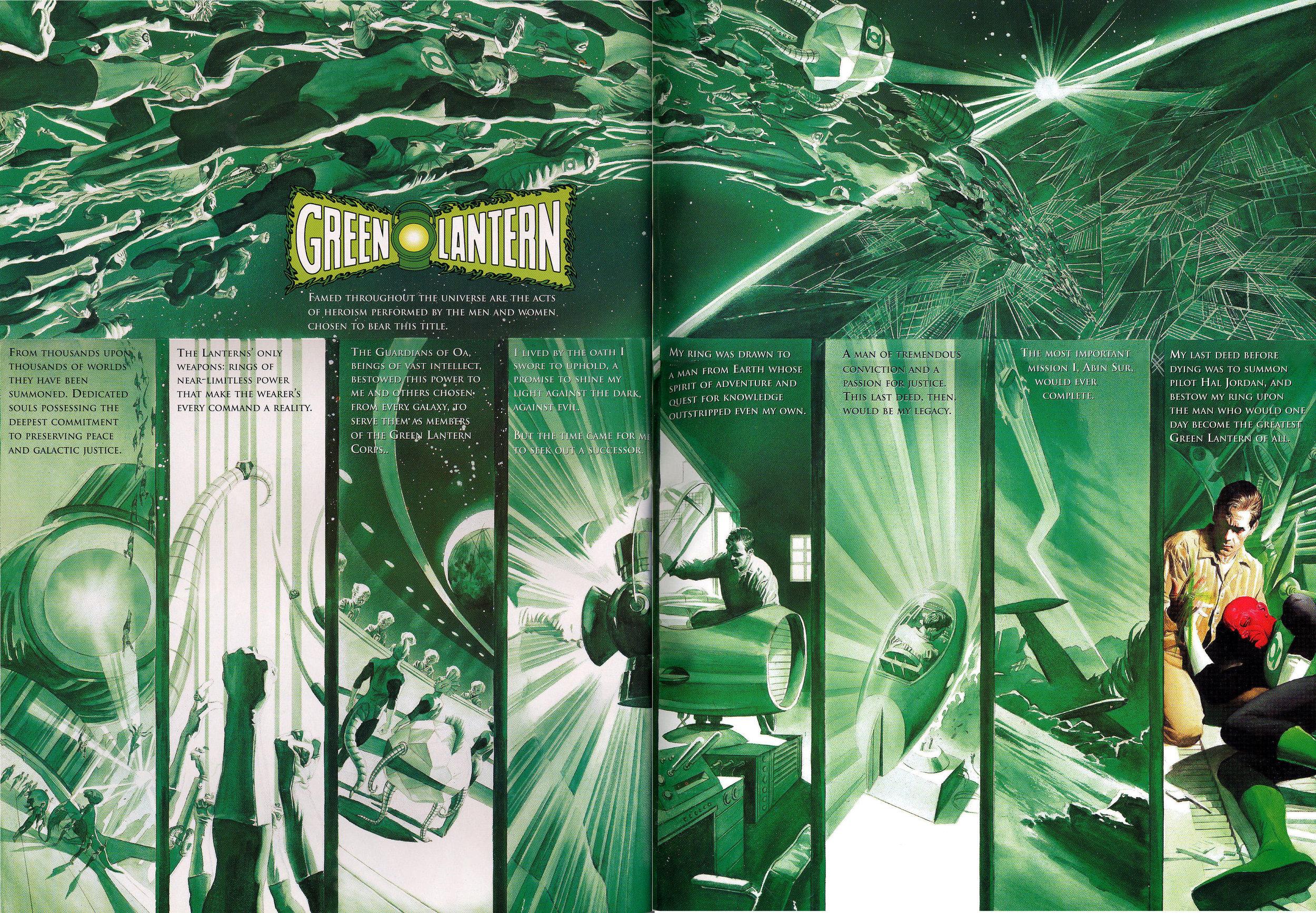 JLA: Secret Origins (2002) Green Lantern, written by Paul Dini with art by Alex Ross.