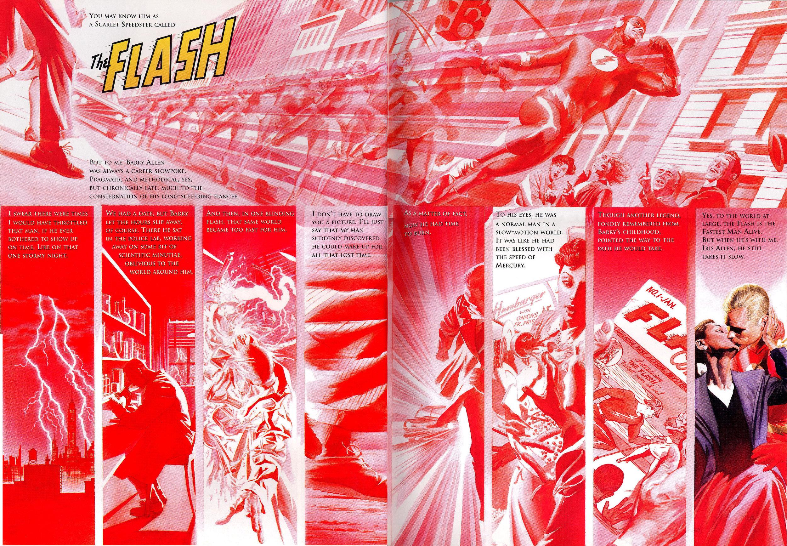 JLA: Secret Origins (2002) Flash, written by Paul Dini with art by Alex Ross.