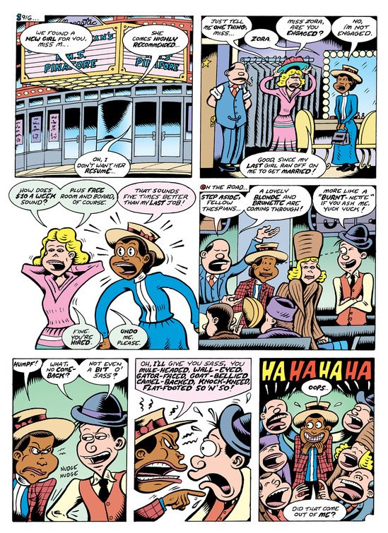 Fire: The Zora Neale Hurston Story (2017) pg25, by Peter Bagge.