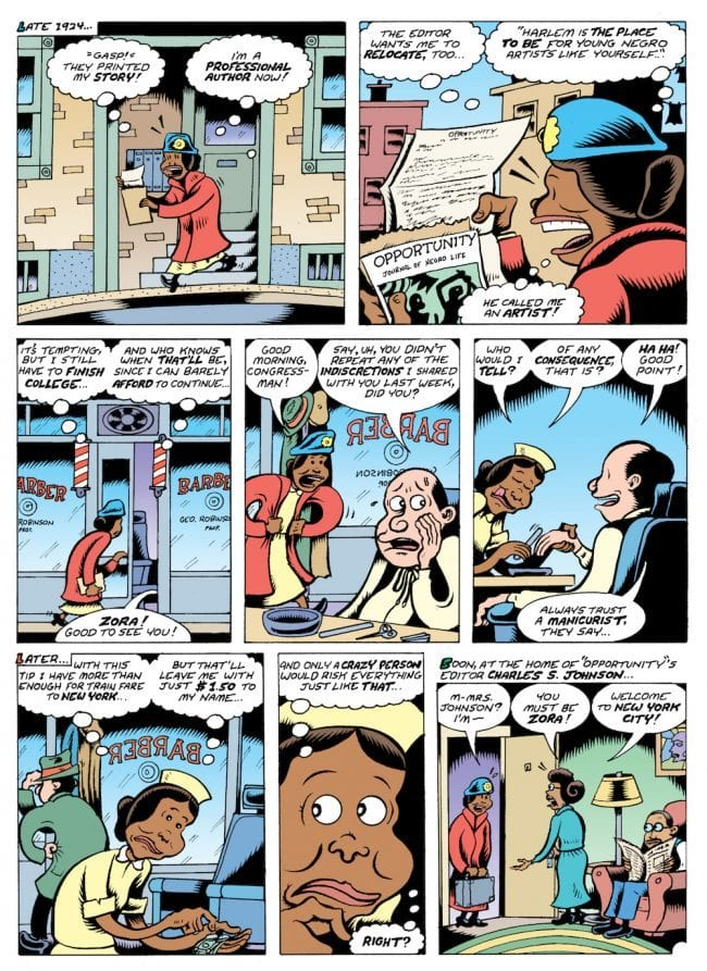 Fire: The Zora Neale Hurston Story (2017) pg30, by Peter Bagge.