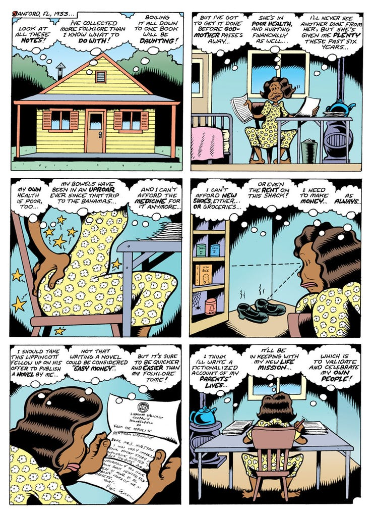 Fire: The Zora Neale Hurston Story (2017) pg58, by Peter Bagge.