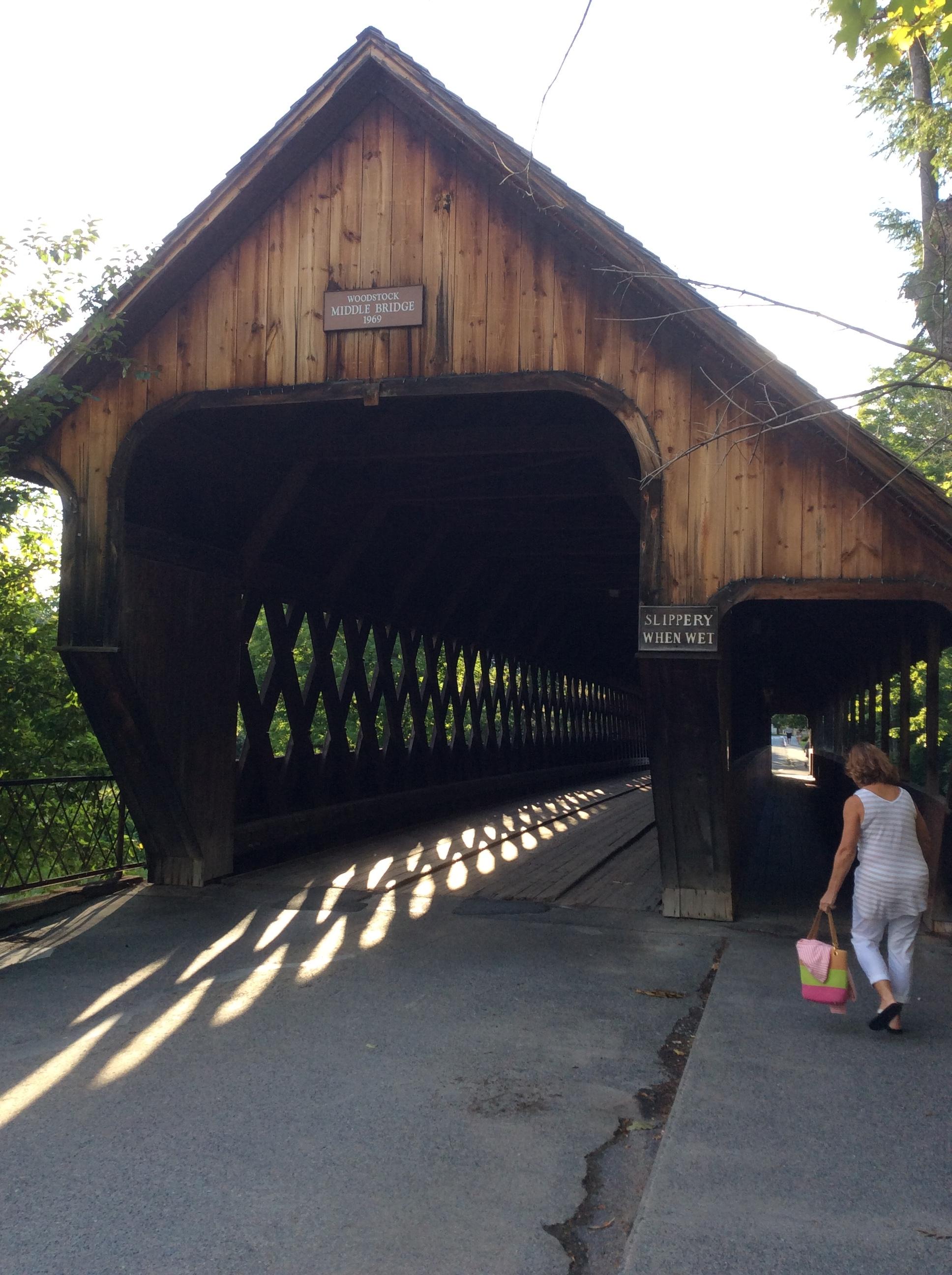 Woodstock's covered bridge