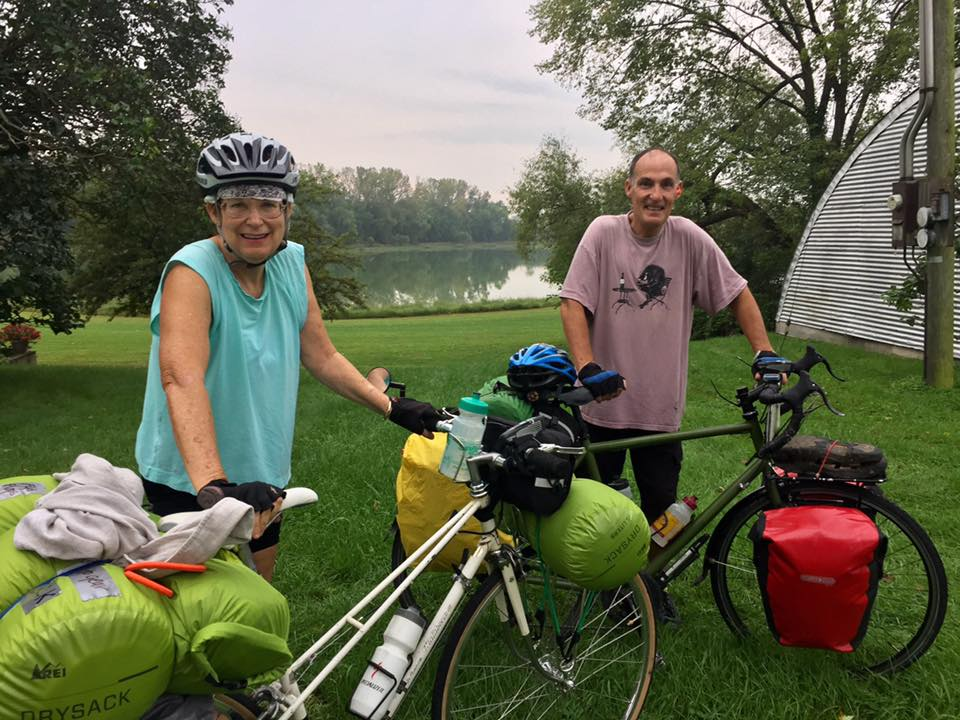 Deb and Dave, loaded and ready to ride.