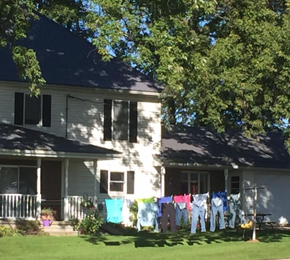 Clothes on the line... makes me smile