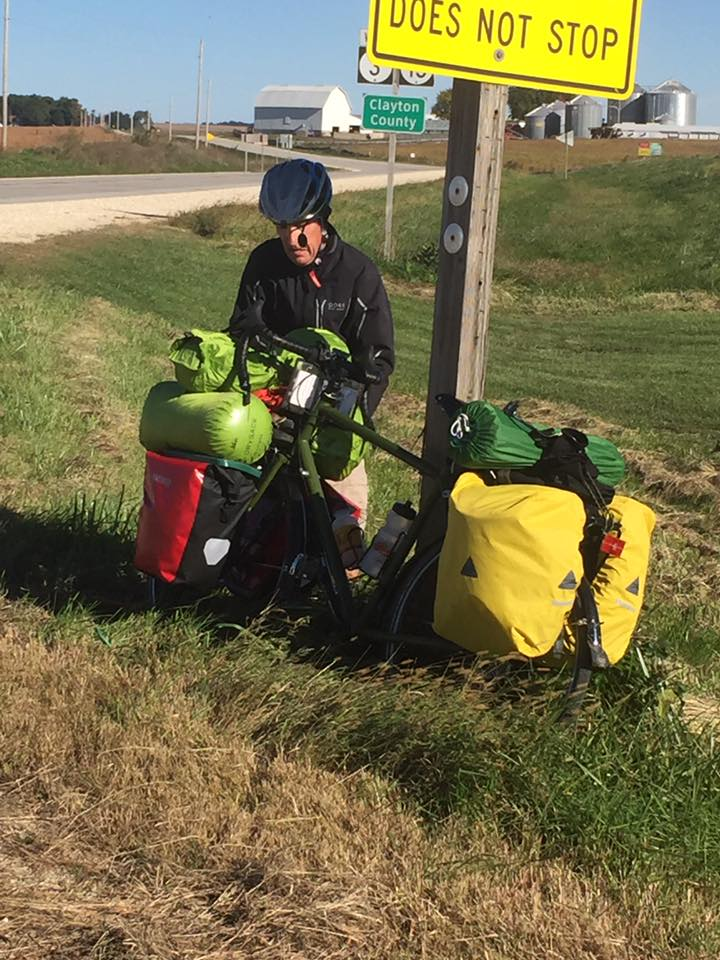 Now Dave is carrying most of my gear and all of his. 125 lbs and 20+ mph head wind!