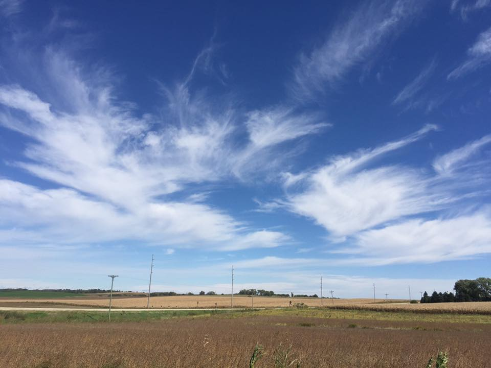 Iowa wind makes for magnificent clouds.