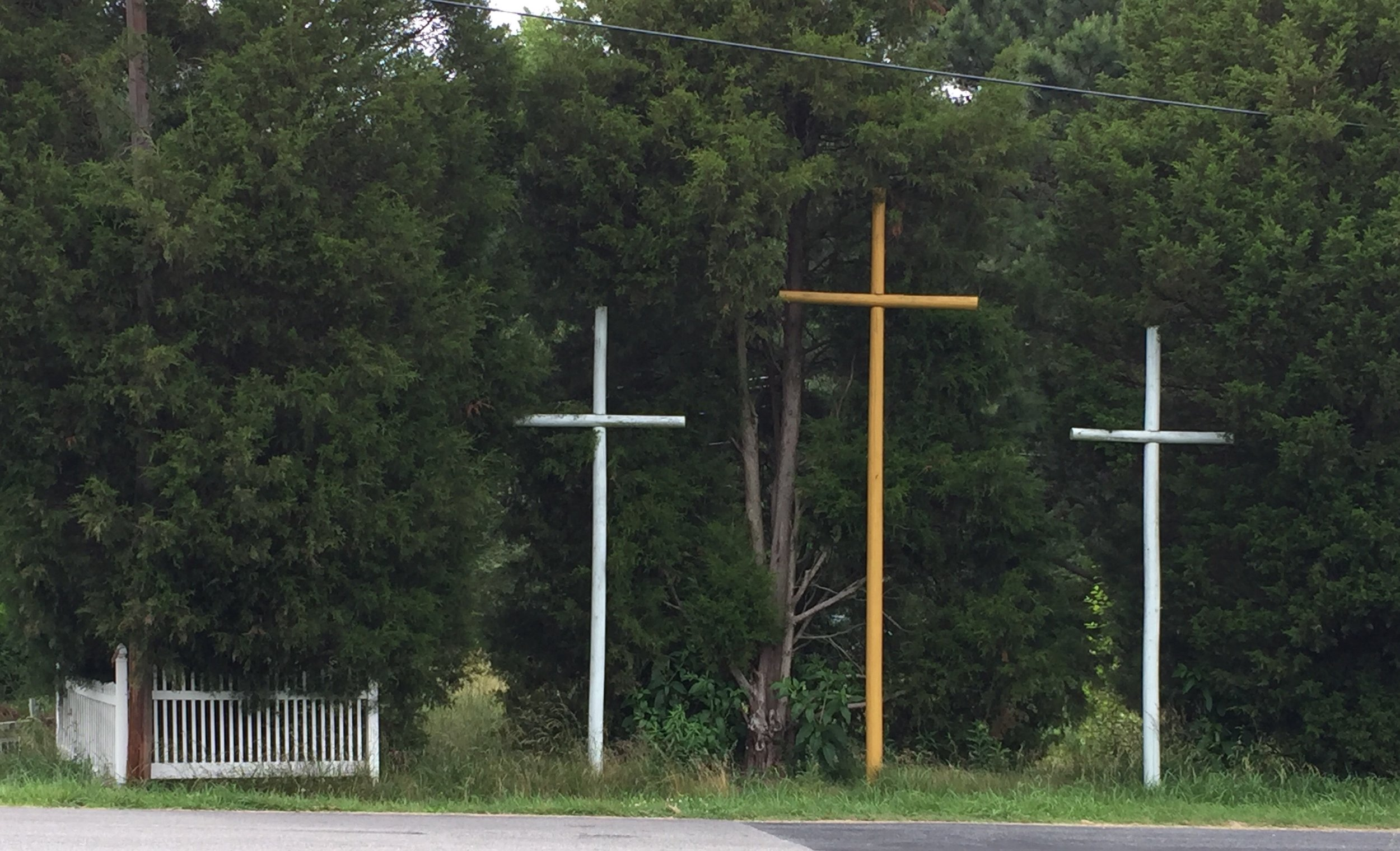 Lots of expressions of faith  along the roadways. Makes me smile.