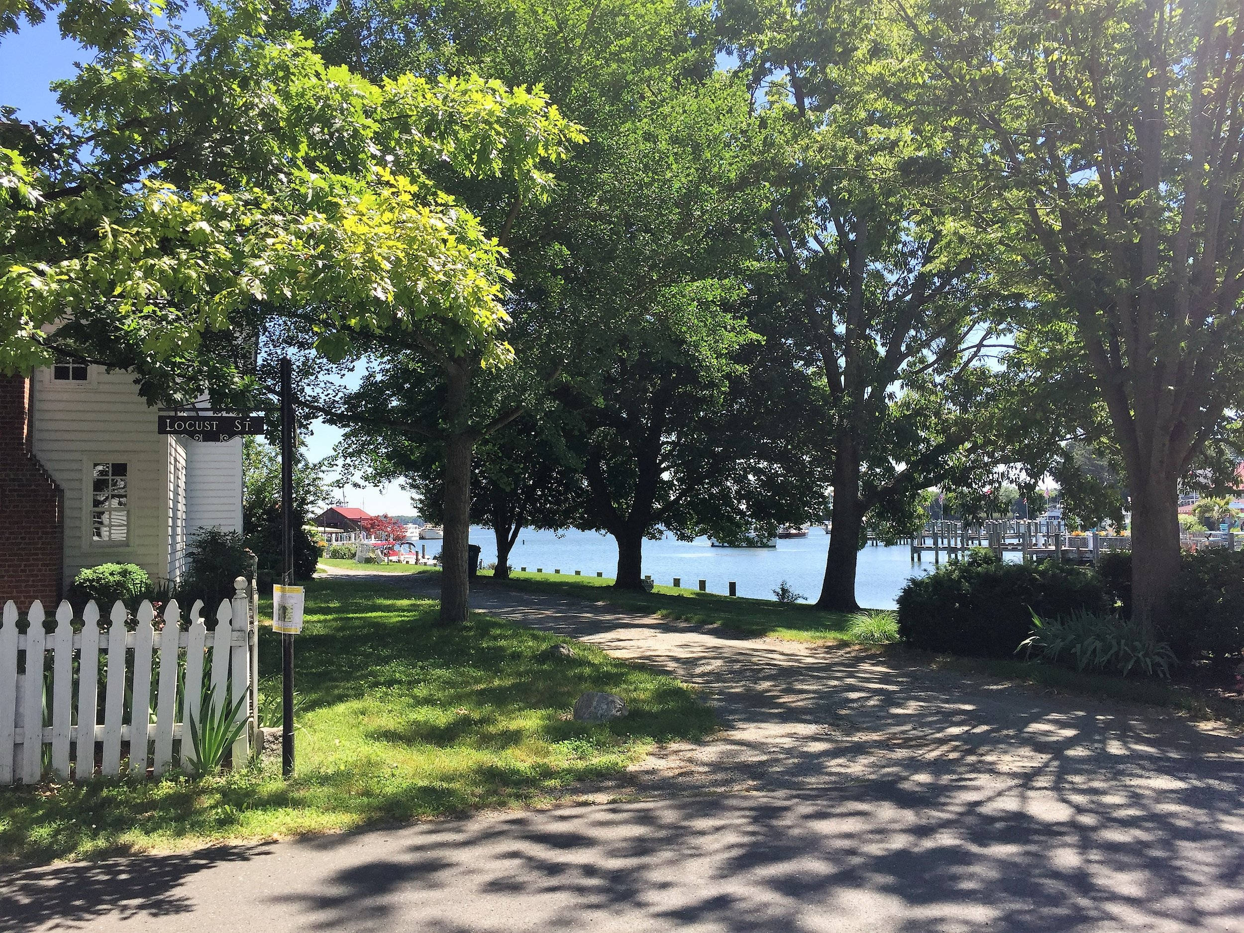 This could be your view from your front porch if you life at the cornier of Locust and Carpenter.