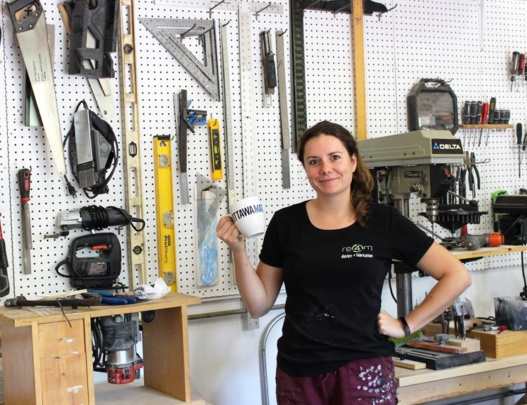 Drew May - Ottawa Matters - Midweek Mugging: Re4m owner Heather Jeffery said her goal is to reduce the amount of material going to landfills by creating something useful and unique from it.Read the Full Article HERE