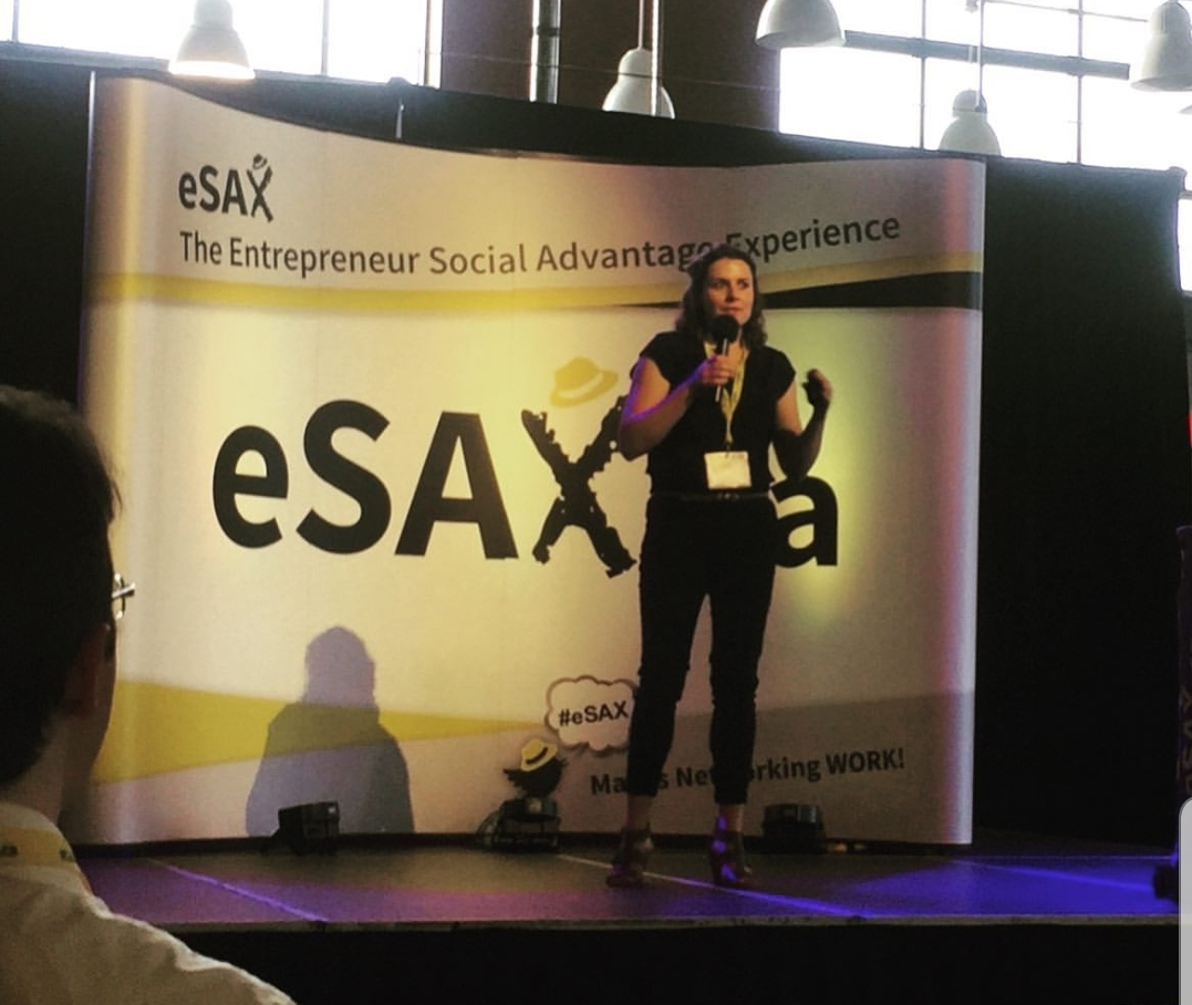Re4m Design + Fabrication Wins 2019 eSax Pitchfest! - Heather Jeffery takes on other local businesses in a pitchfest competition in Ottawa. After a rocky start, Heather redeems herself by speaking from the heart and wins the crowd over with passion, dedication and initiative!