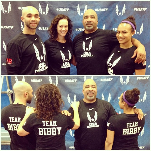 Roan, Annie, Doug, and Jess (from left to right) at the end of the USATF National Championship.