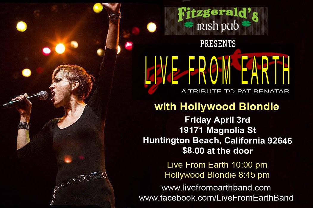 Live From Earth Benatar tribute Fitzgeralds