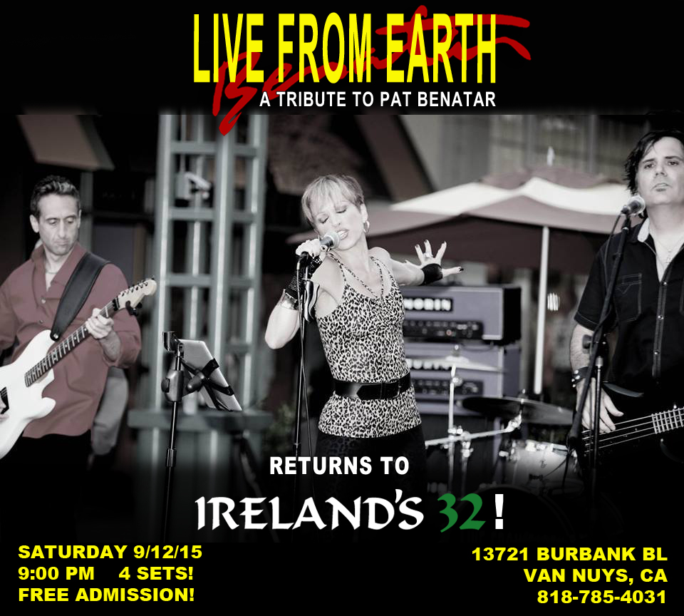 Live From Earth Benatar tribute Ireland's 32