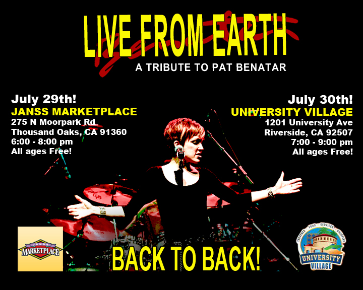 Live From Earth Benatar tribute Summer Concerts