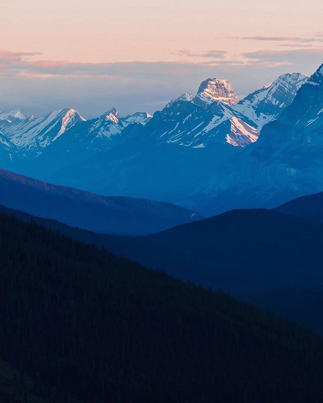 Last light over the Canadian Rockies.