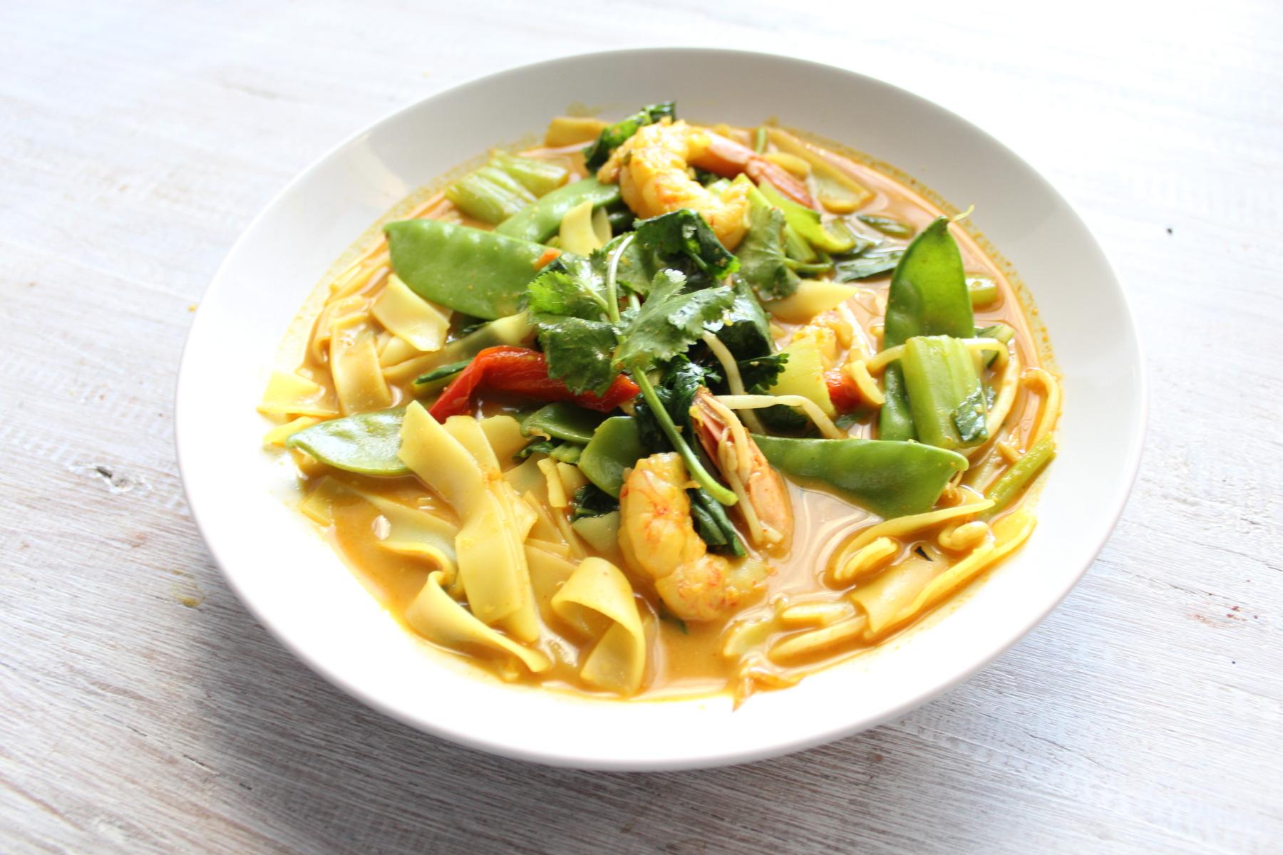 Prawn Laksa from Eat Fit Food.