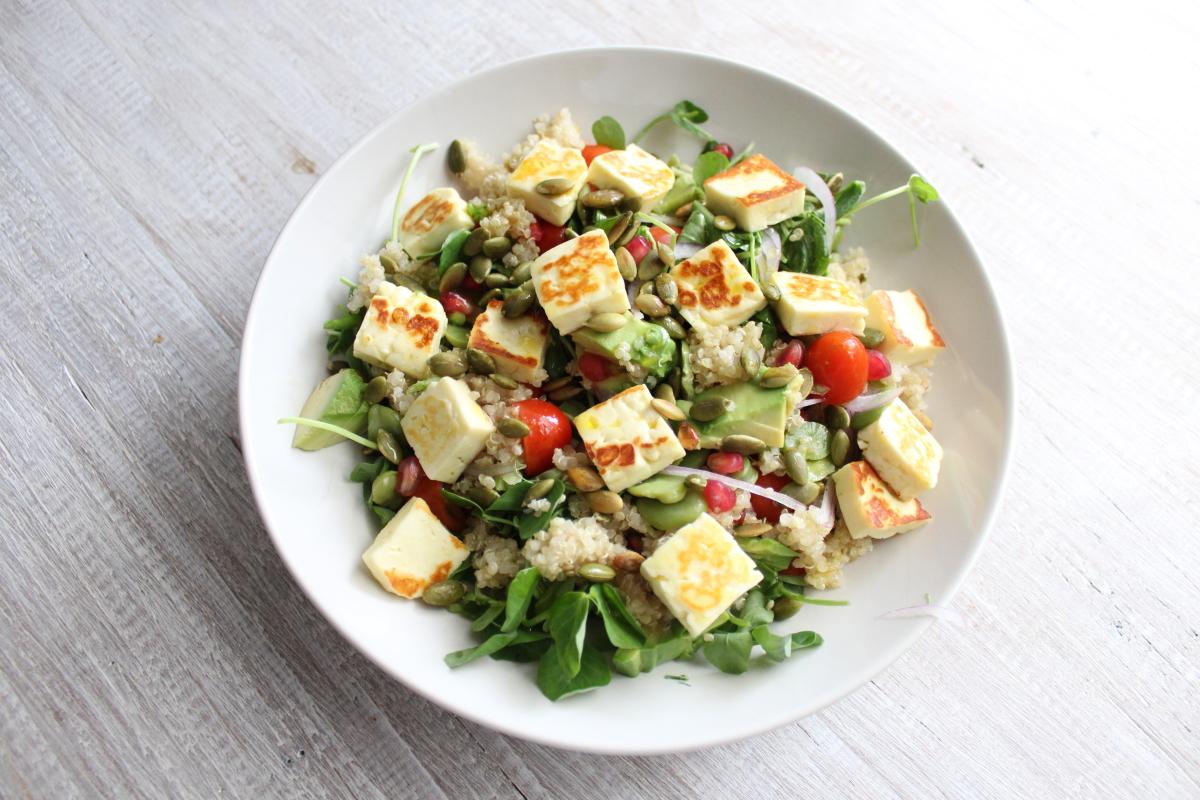 haloumi broad bean salad000003.JPG