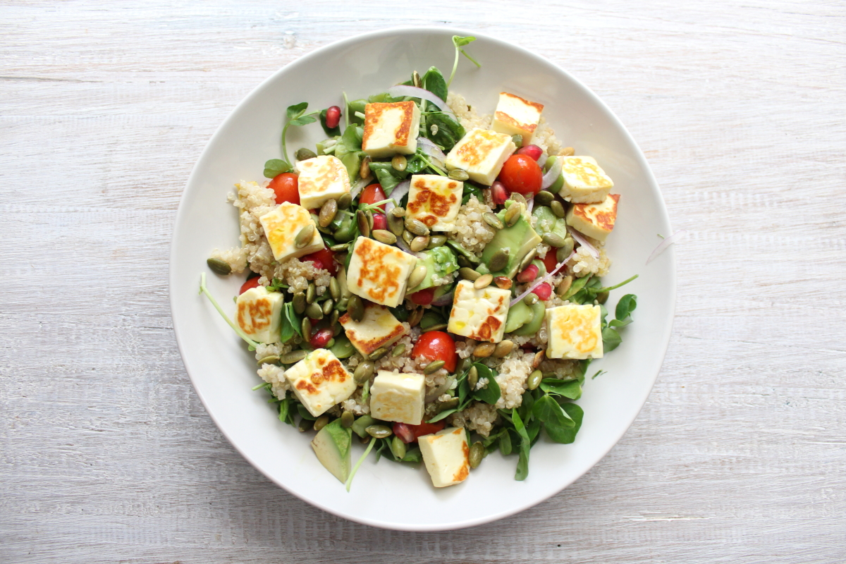 haloumi broad bean salad000001.JPG