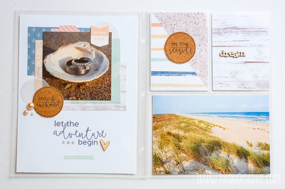 TurquoiseAve.com 6x8 Project Life Scrapbook Layout feat. Little Lamm Co. for #HashtagThisWeek