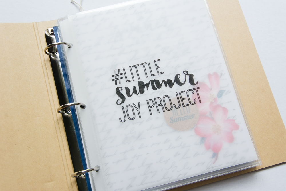 #LittleSummerJOY - a FREE class/challenge for memory keepers. Here is a 6x8 Project Life spread by contributor Mandy Elliott of Turquoise Avenue. Find inspiration and ideas for your project including links to all the products she used!