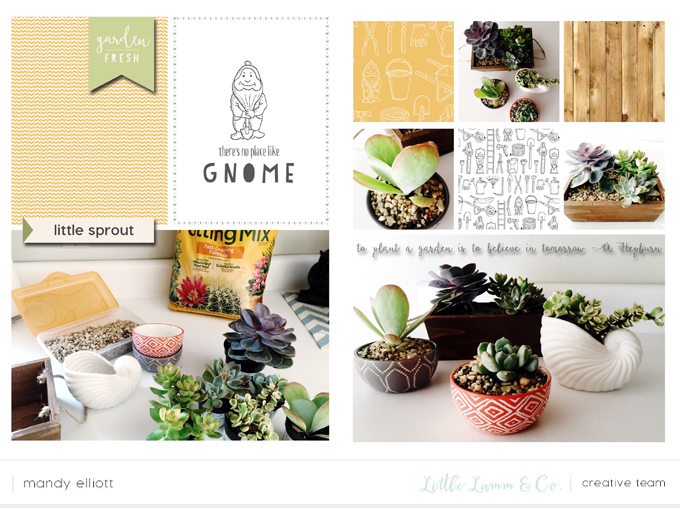 Mini digital Project Life layout by Mandy Elliott, Turquoise Avenue featuring the Grow digital collection by Little Lamm Co.