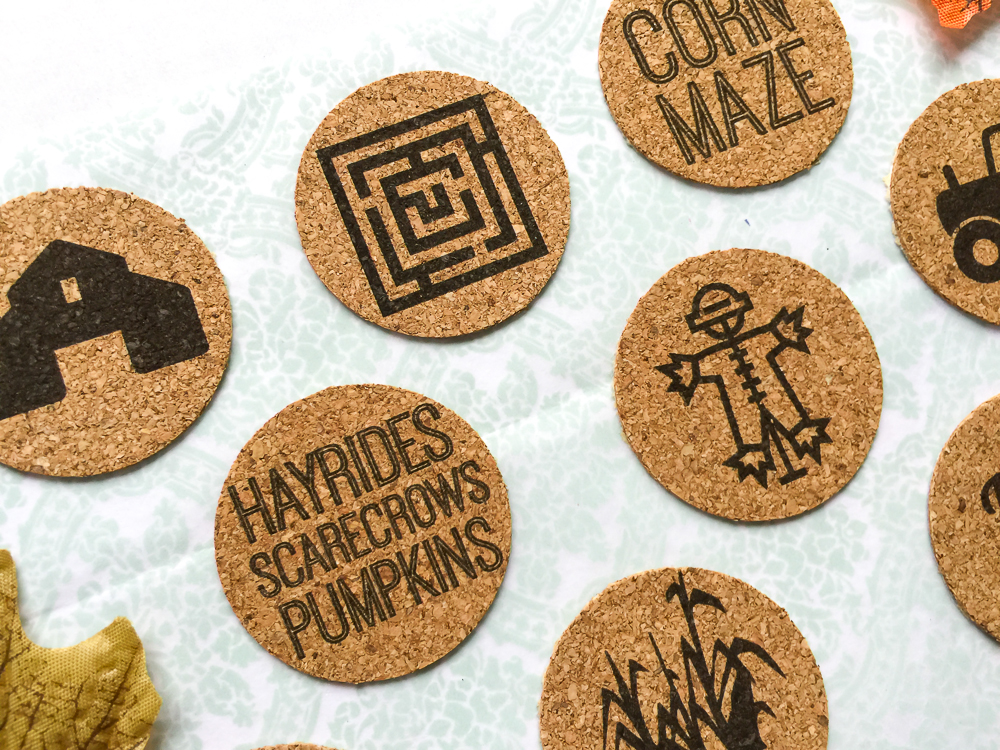 Fall /cornmaze theme, cork stickers perfect for scrapbooking, Project Life, paper crafts, and cards! Available in the Etsy Shoppe at Turquoise Avenue!