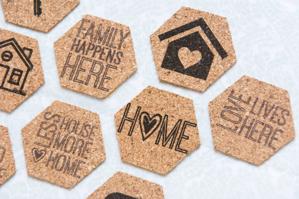 Fun, Home theme cork stickers from the Shoppe at Turquoise Avenue for the #LoveWhereYouLive class by LittlePaperProjects.com.  Perfect for scrapbooking, Project Life, and other paper crafts!