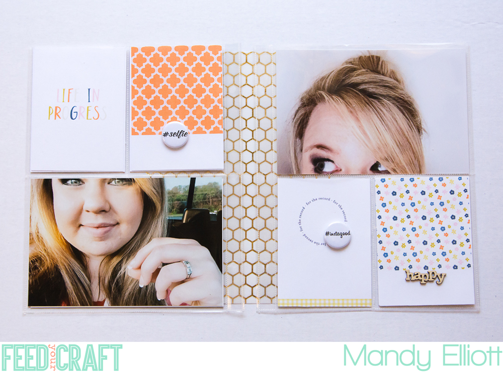 6x8 Project Life Layout by Mandy of Turquoise Avenue featuring the Hashtag set from Feed Your Craft + a Coupon Code!