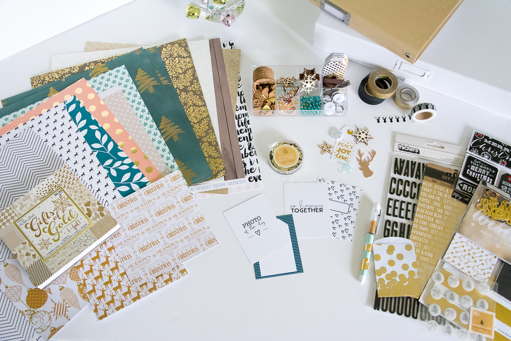 Round up of supplies by Mandy of Turquoise Avenue for her 2015 December Daily® album - a holiday memory keeping project inspired by Ali Edwards! Links to all the products in post!
