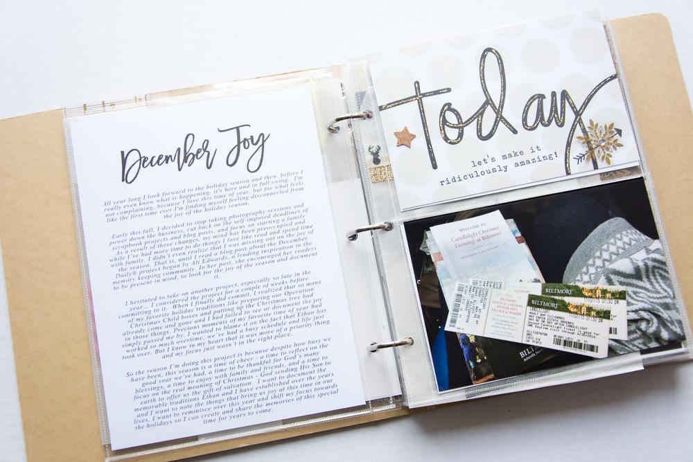 December Joy word art from Digital Design Essentials.