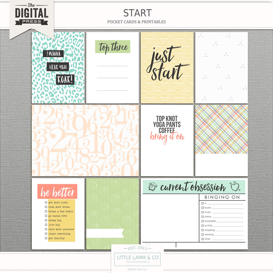 Start - Pocket Cards from the Little Lamm. & Co. store on the Digital Press.
