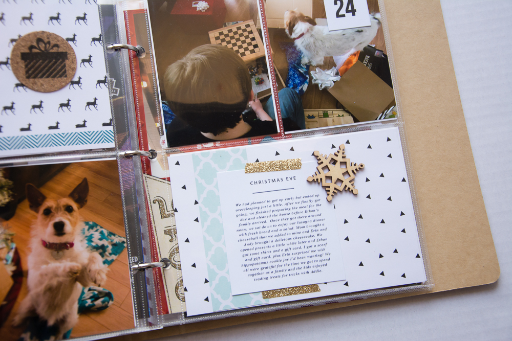 2015 December Daily® | A 6x8 Pocket Page Holiday pocket page scrapbook by Turquoise Avenue. Visit the post for a link to all products used!