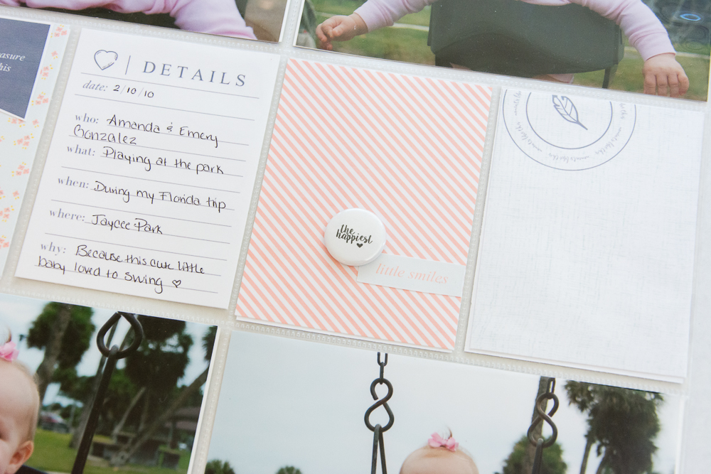 "12x12 Hybrid Pocket Pages featuring Little Lamm & Co. ""Blink"" 