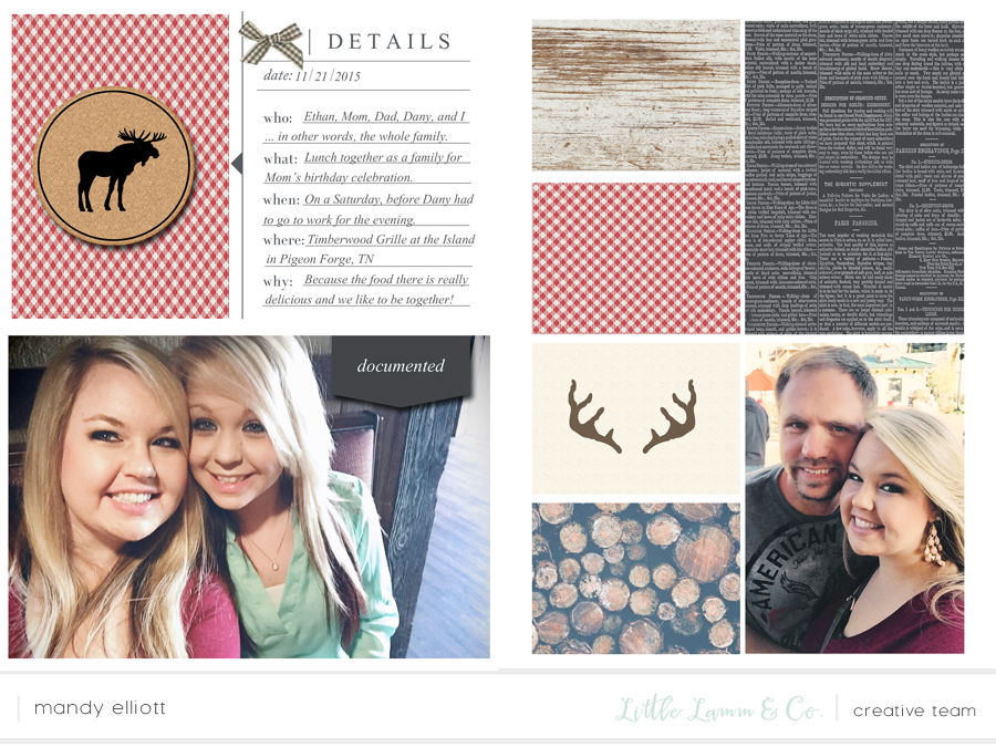 6x8 Digital Pocket Page Scrapbook Layouts feat. Woodland by Little Lamm & Co. | Memory Keeping Monday by Turquoise Avenue Blog