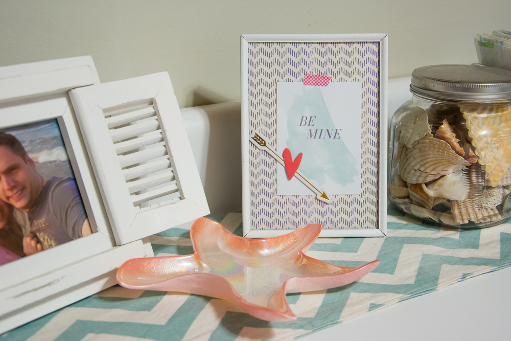 Using Digital Scrapbooking Products for Instant Home Decor   Valentine's Day DIY Craft