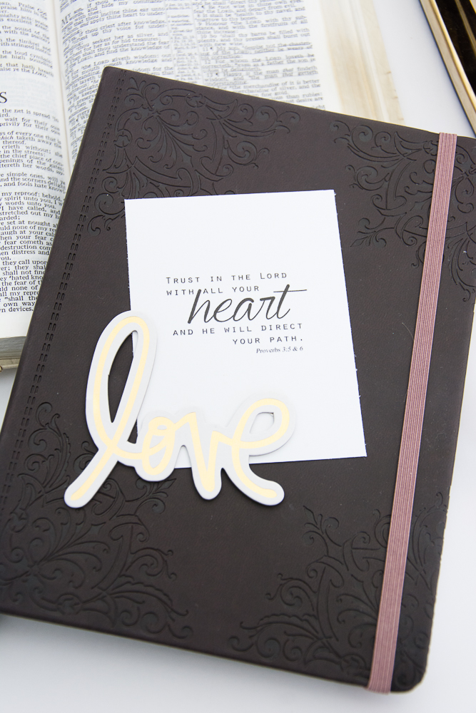 Free Printable Scripture Card | Proverbs 3 Trust in the Lord with all Your Heart - via Turquoise Avenue via prayer journal cards.