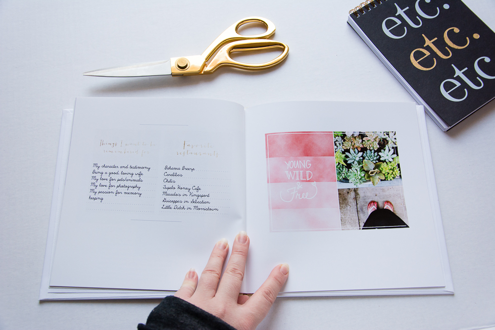 #MySelfieScrapbook - A Finished Project by Turquoise Avenue   8x8 Hard Cover Photobook from Shutterfly with a video flip-through.
